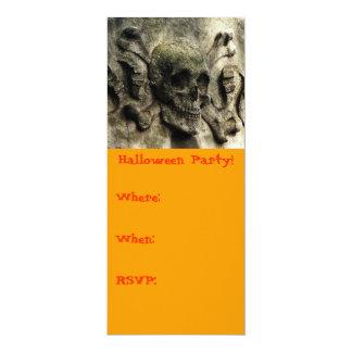 """¡Fiesta de Halloween! (imagen del cementerio de Invitación 4"""" X 9.25"""""""