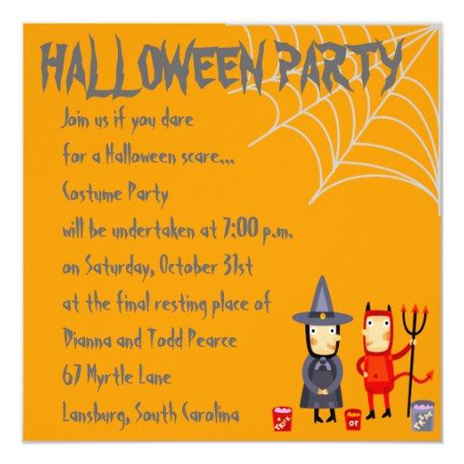 "¡Fiesta de Halloween!! Invitación 5.25"" X 5.25"""