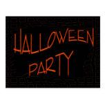 Fiesta de Halloween Tarjetas Postales