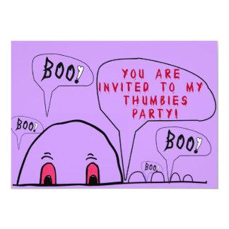 """¡Fiesta de Halloween Thumbies! Invitación 5"""" X 7"""""""