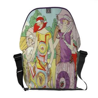 Fiesta de jardín del art déco del vintage bolsas de mensajería