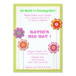 Fiesta de jardín - el cumpleaños invita invitación personalizada