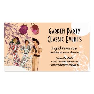 Fiesta de jardín en melocotón y ciruelo tarjetas de visita