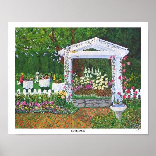 Fiesta de jardín posters