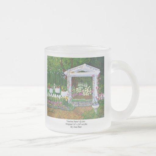 Fiesta de jardín taza de café esmerilada
