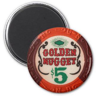 Fiesta de juego de la ficha de póker del casino de iman para frigorífico