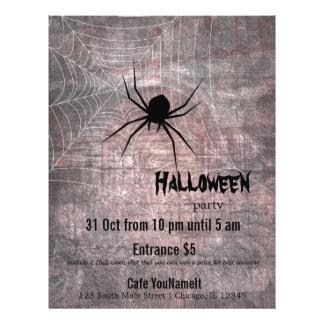 """Fiesta de la araña de Halloween Folleto 8.5"""" X 11"""""""
