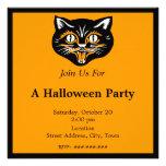 Fiesta de la cara del gato negro de Halloween del  Comunicados Personales