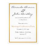 Fiesta de la celebración de la boda del boda del p invitaciones personales