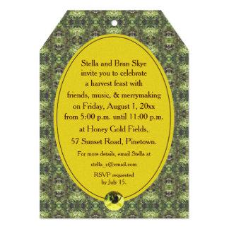 """Fiesta de la celebración de la cosecha de la abeja invitación 5"""" x 7"""""""