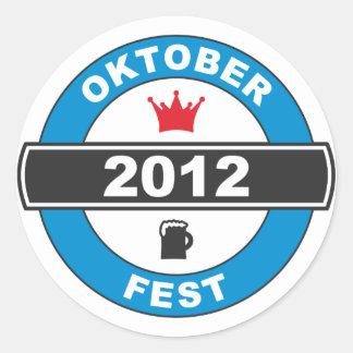 Fiesta de la cerveza 2012.png pegatina redonda