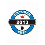 Fiesta de la cerveza 2013 tarjetas postales