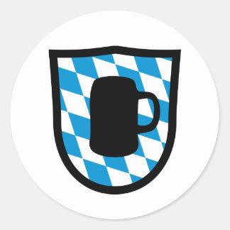 Fiesta de la cerveza Baviera Pegatina Redonda