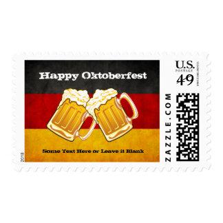 Fiesta de la cerveza de Oktoberfest - bandera de Estampillas