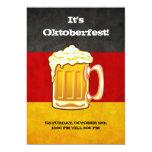 Fiesta de la cerveza de Oktoberfest - bandera de Invitacion Personal