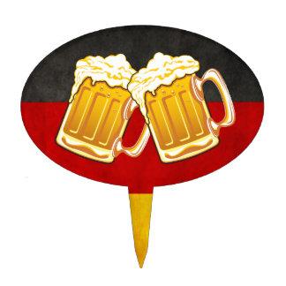 Fiesta de la cerveza de Oktoberfest - equipo de co Figura Para Tarta