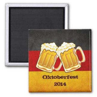 Fiesta de la cerveza de Oktoberfest - equipo de co Imán De Frigorífico