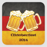 Fiesta de la cerveza de Oktoberfest - equipo de Calcomanías Cuadradas Personalizadas