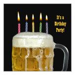 Fiesta de la cerveza del cumpleaños comunicado