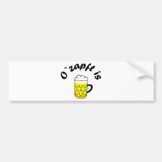 Fiesta de la cerveza O saca del tonel is Pegatina De Parachoque