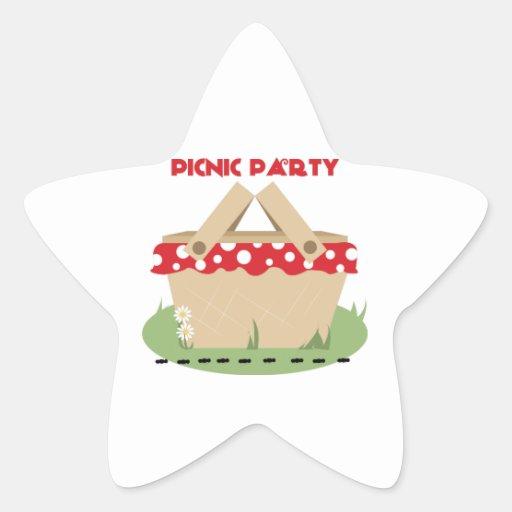 Fiesta de la comida campestre colcomanias forma de estrellaes