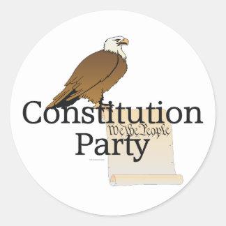 Fiesta de la constitución de la CAMISETA Etiqueta Redonda