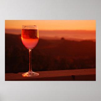 Fiesta de la degustación de vinos de la puesta del posters