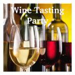 Fiesta de la degustación de vinos de las botellas  invitaciones personalizada
