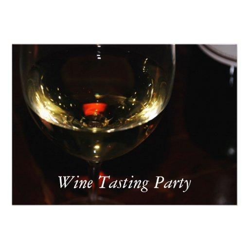 Fiesta de la degustación de vinos anuncio personalizado