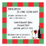 Fiesta de la degustación de vinos invitaciones personales