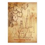 """Fiesta de la degustación de vinos invitación 5"""" x 7"""""""