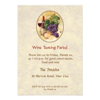 Fiesta de la degustación de vinos invitación personalizada
