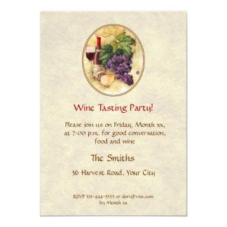 Fiesta de la degustación de vinos invitación 12,7 x 17,8 cm