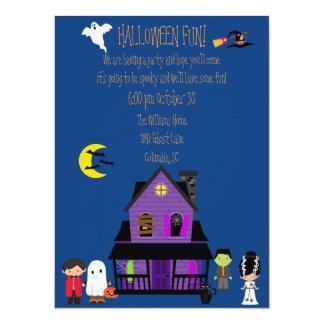 """Fiesta de la diversión de Halloween Invitación 5.5"""" X 7.5"""""""