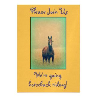 ¡Fiesta de la equitación! Invitación 12,7 X 17,8 Cm