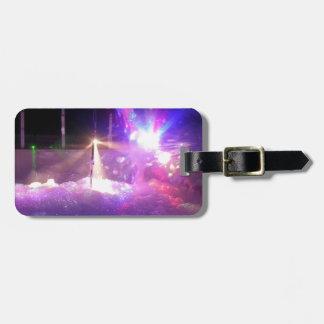 Fiesta de la espuma del laser etiquetas de maletas