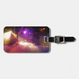 Fiesta de la espuma del laser etiquetas maleta