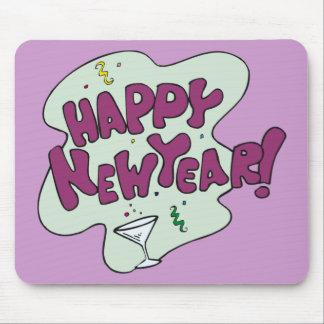 Fiesta de la Feliz Año Nuevo Alfombrilla De Ratones