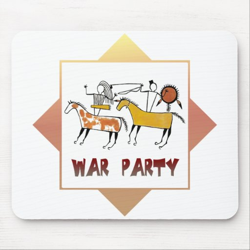 Fiesta de la guerra mousepad