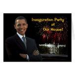 Fiesta de la inauguración de la invitación de Obam Felicitaciones
