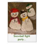 Fiesta de la lucha de la bola de nieve… tarjeta pequeña