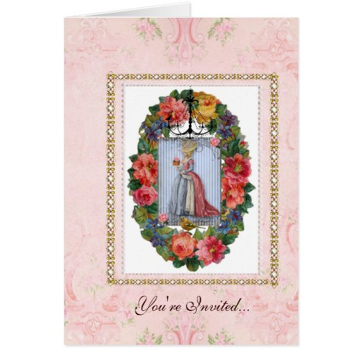 fiesta de la magdalena de la invitación del tarjeta pequeña