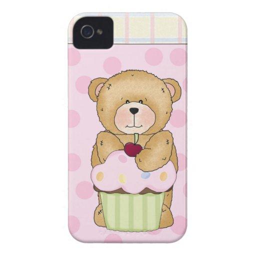 Fiesta de la magdalena del oso de peluche Case-Mate iPhone 4 coberturas