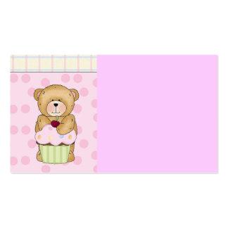 Fiesta de la magdalena del oso de peluche plantilla de tarjeta personal