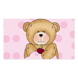 Fiesta de la magdalena del oso de peluche tarjeta de negocio