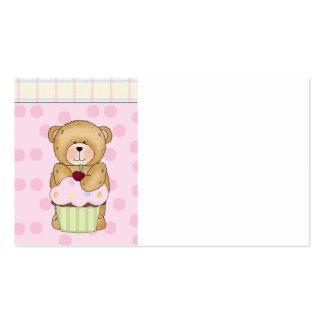 Fiesta de la magdalena del oso de peluche tarjetas de visita