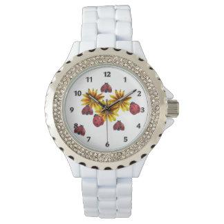 Fiesta de la mariquita relojes de pulsera