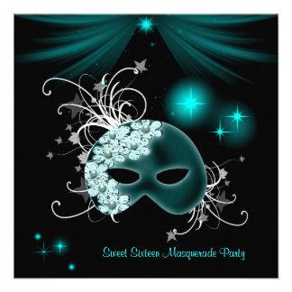 Fiesta de la mascarada del dulce 16 de las máscara anuncio