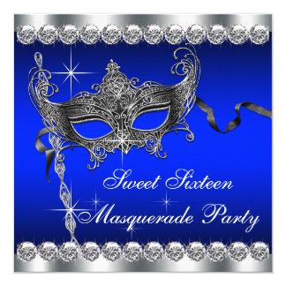 Fiesta de la mascarada del dulce dieciséis del invitación 13,3 cm x 13,3cm