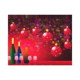Fiesta de la noche de navidad impresión en lienzo